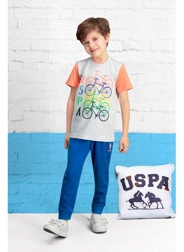 U.S. Polo Assn. U.S. Polo Assn Lisanslı Lacivert Erkek Çocuk Pijama Takımı Gri